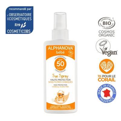Crème solaire bébé hypoallergénique SPF 50 - ALPHANOVA BEBE - Solaires
