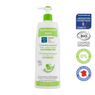 Nourishing cleansing gel - ALPHANOVA BEBE - Baby / Children